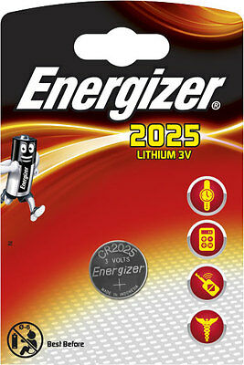 10 x Energizer Batterie CR2025 Lithium 3V Knopfbatterie CR 2025 Battery NEW