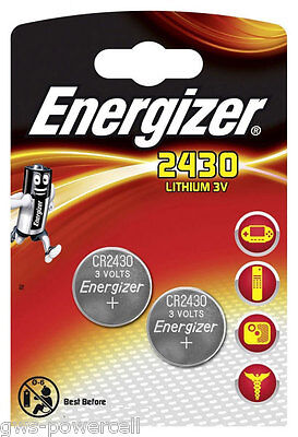 8 x Energizer CR2430 / CR 2430  DL2430 / DL 2430 3V Lithium Battery NEW