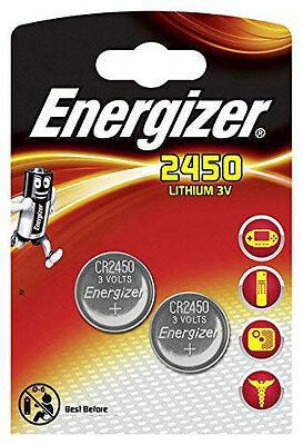 4 x Energizer CR 2450 Batterie Knopfzelle  CR2450 Lithium 620 mAh 3V Battery NEU
