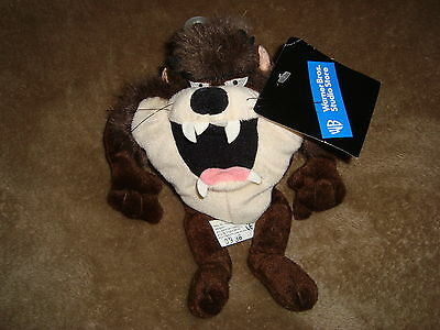 "Taz 1998 Exclusively for Warner Bros Studio Store Plush Beanbag 9"" Looney Tune"
