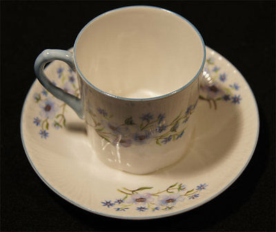 1940's SHELLEY COFFEE CAN DEMITASSE BLUE ROCK PATTERN NO 13591 TOP CONDITION e56