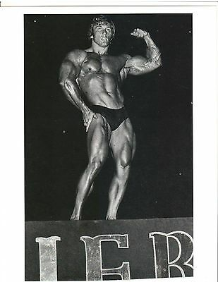 1969 Frank Zane wins IFBB Mr World in Belgium Bodybuilding Muscle B+W Photo