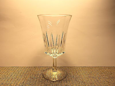 "Cristal d""Arques Crystal Regency Pattern Cut Crystal Water Goblet"