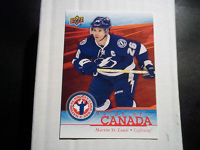 2013-14 National Hockey Card Day Pride Of Canada Card #13 - Martin St. Louis