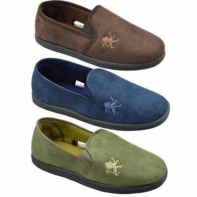 Mens Boys New Full Cosies Comfy Slippers In 3 Colours Sizes 6,7,8,9,10,11