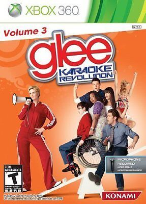 XBOX 360 GAME KARAOKE REVOLUTION GLEE: VOLUME 3 *BRAND NEW Software only!!