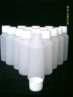 10 x 50 ml plastic clear bottles ideal for hobby / craft / travel / medicine