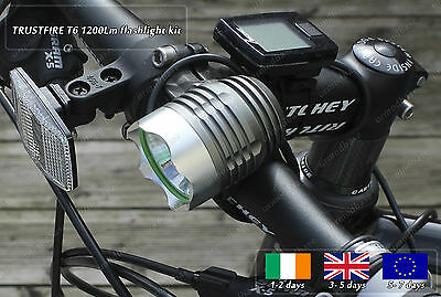 Genuine TrustFire Cree LED Portable Xenon Bicycle DIY HID Torch Flashlight Set