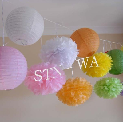 paper pom poms baby shower engagement wedding Valentine's Day venue decoration