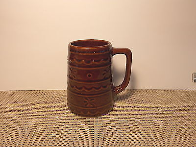 "Vintage Marcrest Pottery Daisy Dot Brown 5"" Tankard Mug"