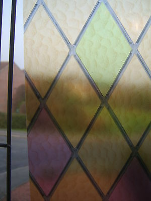 90cm Wd RED GREEN STAINED COLOURED GLASS STICKY BACK PLASTIC SELF ADHESIVE VINYL