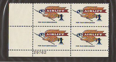 SCOTT # 1341 Airlift Issue United States U.S. Stamps MNH - Plate Block of 4