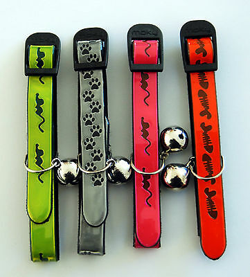 Designer Reflective Cat Collars by Moky (2 collars)