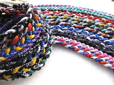 Fundraiser Lot of 50 Wholesale Titanium Tornado Sports Necklaces Cheap 20""