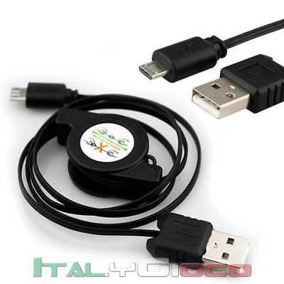 Caricabatterie Cavo Micro Usb Per Huawei Ascend G615 Carica Microusb Charger