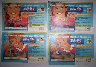 Lot Publicites Annees 80 Special Milky Way / Glamour Girls - Action Force