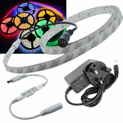 Full Kit DIMMABLE 1 Metre Waterproof  LED Strip Tape +Transformer+Mini Dimmer