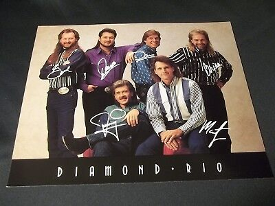 "DIAMOND RIO Signed BY ALL 6 AUTOGRAPHED 8X10"" COLOR PHOTO COUNTRY MUSIC BAND"