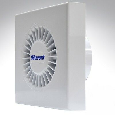 """Silavent 4"""" Inch 100mm Axial Wall Bathroom Ventilation Extractor Fan With Timer"""