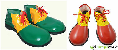CLOWN SHOES Costume Fancy Dress Adult Circus Party Halloween Accessory Large New