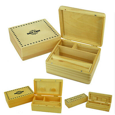 Cigarette Box Smoking Tobacco Wooden Rolling Box Grassleaf Roll Stash Snuff New