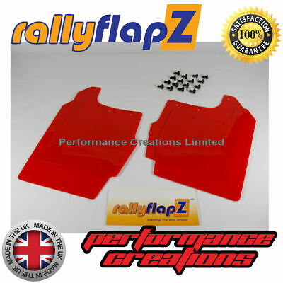 Rally Mud Flaps FORD FOCUS RS MK1 (98-04) RallyflapZ Mudflaps Red 4mm set of 4