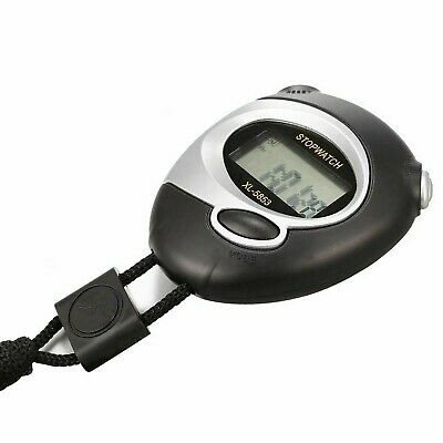 Lcd Time Clock Alarm Digital Handheld Sports Stopwatch Counter Timer Stop Watch