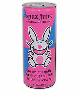 It's Happy Bunny Spaz Juice Energy Drink 8.4 Oz Can NEW