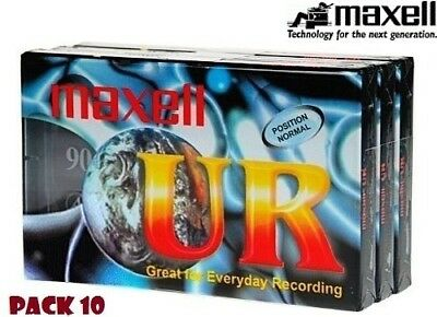 Maxell Ur90 Audio Cassette Tapes 90-Min Recordable Ur-90 Pack 10 / Brand New