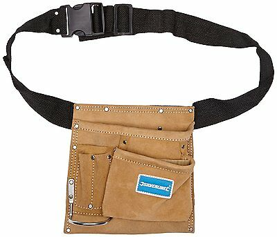 NAIL & TOOL POUCH 5 POCKET BELT - 220 x 220mm TOOL STORAGE LEATHER BELT (589704)