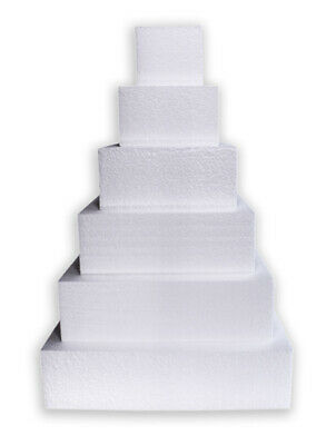 Cake Dummy Square Straight Edge Polystyrene Decoration Icing Sugarcraft Fake New