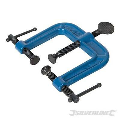 3-WAY CLAMP - 62mm WOODWORK G-CLAMPS SILVERLINE (868223)