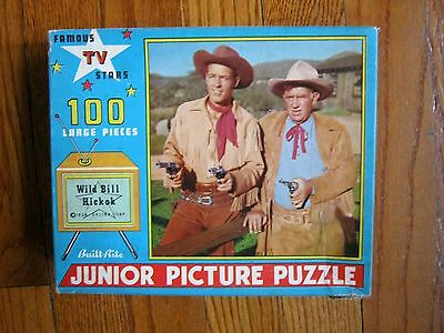 Old Vintage Wild Bill Hickok 100 Piece Puzzle ~ complete