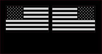 USA Subdued American Flags LH/RH (2) Decal Stickers United States FLG6