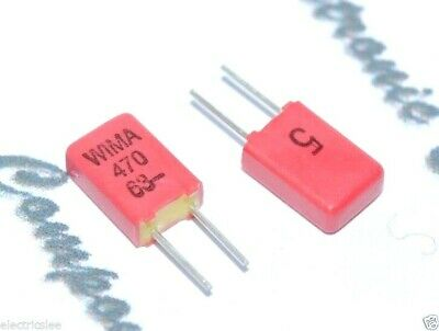 10pcs WIMA FKP02 2200P 2200pF 2,2nF 100V 5/% pitch:2.5mm Capacitor