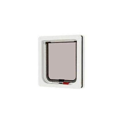 Lockable Cat Flap White 16.5x17.4cm Accessories - Dog & Cat Doors - Dog & Cat Do
