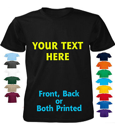 Custom Printed Personalised T-Shirts Tee Shirt Stag Hen Charity Run  Your Text