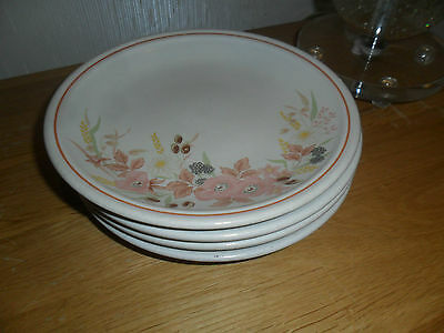 Boots Hedge Rose Side Plates X 4