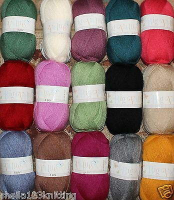 King Cole Big Value 4Ply Knitting Yarn 100G - In Various Shades