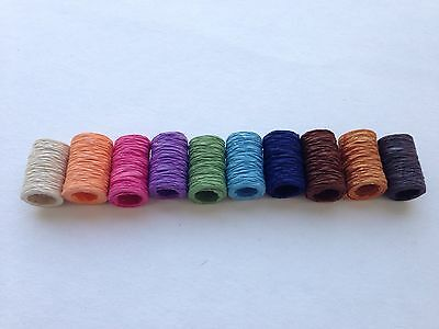10 rolls of Thin SAA MULBERRY PAPER RIBBONS - Bow, Craft, Scrapbooking