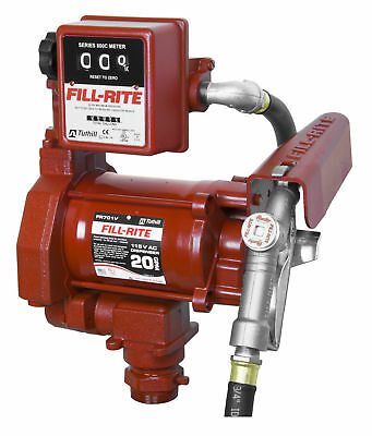 Tuthill Fill Rite FR701V 115 V AC 20 GPM Fuel Transfer Pump & Meter Heavy Duty