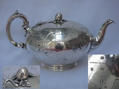 Magnificent Stunning Early Victorian Sterling Silver Teapot Barnards of London