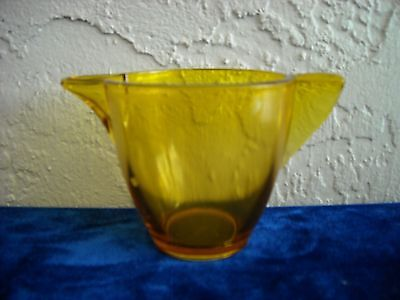 Akro Agate Large Stippled Band Teapot, No Lid  Amber