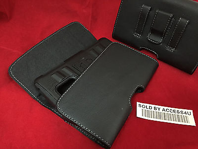 LEATHER CASE BELT CLIP POUCH FOR SAMSUNG GALAXY NOTE 3 EXTENDED BATTERY CASE
