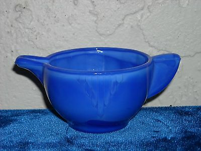 Akro Agate Large Interior Panel Creamer  Opaque Blue