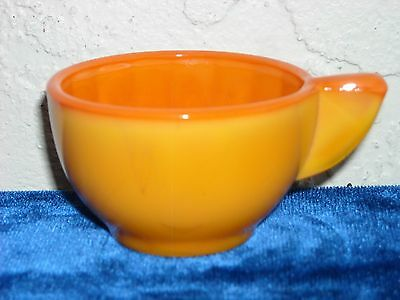 Akro Agate Large Interior Panel Cup  Pumpkin