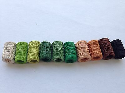 10 rolls of Green Set SAA MULBERRY PAPER RIBBONS - Bow, Craft, Scrapbooking