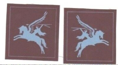 British Army Airborne Pegasus patches a pair for tunic copies