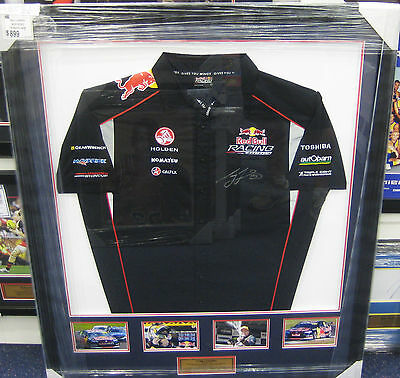 Craig Lowndes Hand Signed V8 Shirt And Photo Set Framed + Photo Proof & C.o.a
