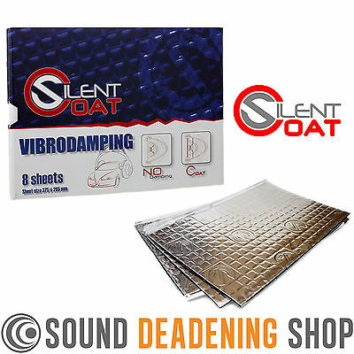 Silent Coat 2mm Door Pack 8 Sheets Car Sound Deadening Vibration Proofing Mat